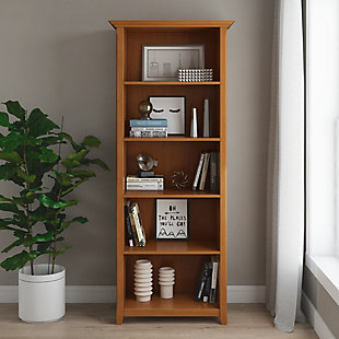 Simpli Home Amherst Transitional 5 Shelf Bookcase, , rollover