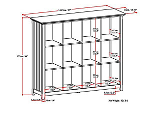 Simpli Home Acadian Rustic 12 Cube Storage, , large