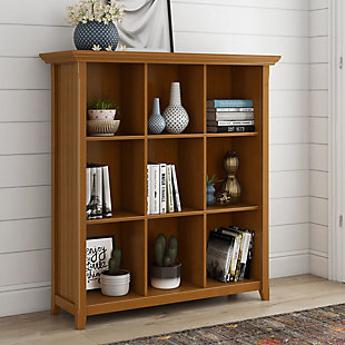 Simpli Home Acadian Rustic 9 Cube Bookcase and Storage Unit, , rollover