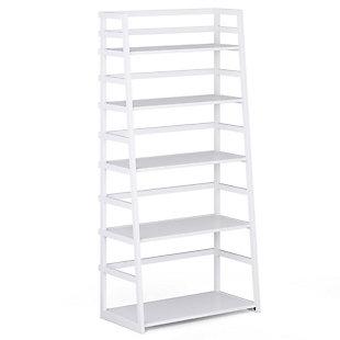 Simpli Home Acadian Rustic Ladder Shelf Bookcase, , large