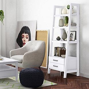 Simpli Home Sawhorse Modern Industrial Ladder Shelf with Storage, , rollover
