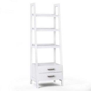Simpli Home Sawhorse Modern Industrial Ladder Shelf with Storage, , large