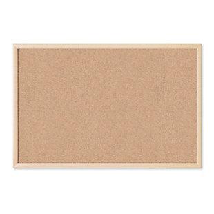 "U Brands 35"" x 23"" Birch Framed Cork Bulletin Board, , large"