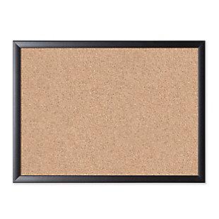 "U Brands 23"" x 17"" Black Framed Cork Bulletin Board, , large"