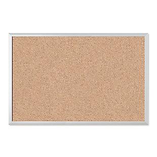 "U Brands 35"" x 23"" Silver Aluminum Framed Cork Bulletin Board, , large"