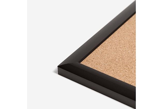 "U Brands 23"" x 17"" Black Aluminum Framed Cork Bulletin Board, , large"