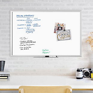 "U Brands 35"" x 23"" Silver Aluminum Framed Magnetic Dry Erase Board, , rollover"