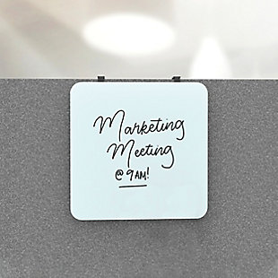 """U Brands 12"""" x 12"""" Frameless Magnetic Cubicle Glass Dry Erase Board, , rollover"""