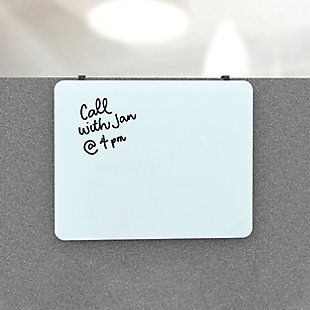 """U Brands 20"""" x 16"""" Frameless Magnetic Cubicle Glass Dry Erase Board, , rollover"""