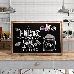"U Brands 35"" x 23"" Decor Rustic Framed Magnetic Chalkboard, , rollover"