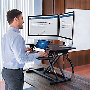 "FlexiSpot Motorized 36"" Sit-Stand Desk Converter, , rollover"