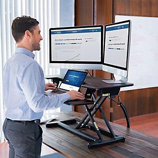 "FlexiSpot Motorized 36"" Sit-Stand Desk Converter, , rollover"