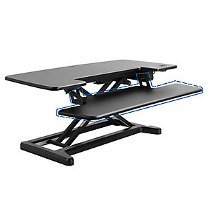 "FlexiSpot Motorized 36"" Sit-Stand Desk Converter, , large"