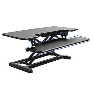 "FlexiSpot Motorized 36"" Sit-Stand Desk Converter, , large"