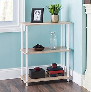 HDS Trading Pine Wood 3 Tier Rectangular Corner Shelf, , rollover