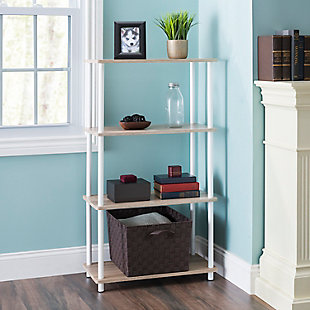 HDS Trading Pine Wood 4 Tier Rectangular Corner Shelf, , rollover