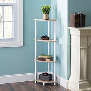HDS Trading Pine Wood 4 Tier Arc Corner Shelf, , rollover