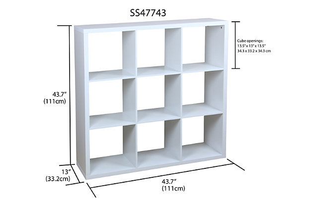 HDS Trading 9 Open Cube Organizing Wood Storage Shelf, , large