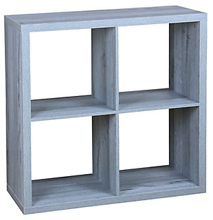 HDS Trading 4 Open Cube Organizing Wood Storage Shelf, , large