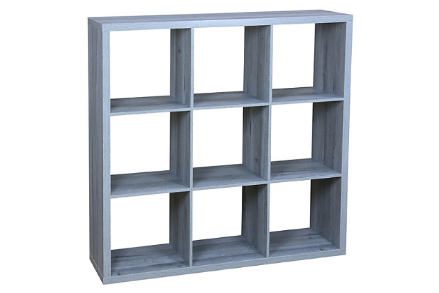 HDS Trading 9 Open Cube Organizing Wood Storage Shelf, , large