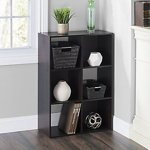 HDS Trading Stackable 6 Cube Modern Wood Organizer, , rollover