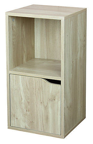 HDS Trading 2 Cube Wood Storage Shelf, , large