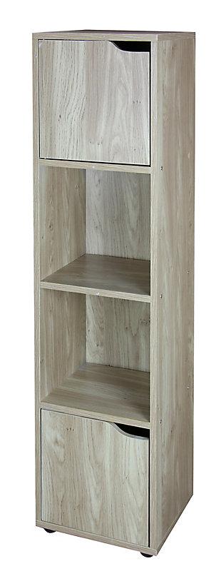 HDS Trading 4 Cube Wood Storage Shelf, , large