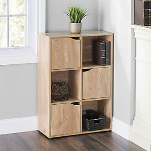 HDS Trading 6 Cube Wood Storage Shelf, , rollover