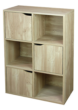 HDS Trading 6 Cube Wood Storage Shelf, , large