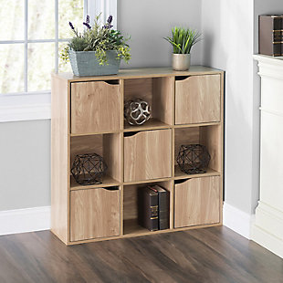 HDS Trading 9 Cube Wood Storage Shelf, , rollover