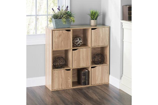 HDS Trading 9 Cube Wood Storage Shelf, , large