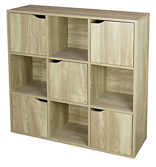 HDS Trading 9 Cube Wood Storage Shelf, , large