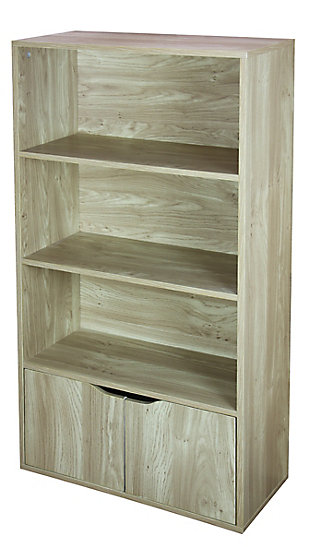HDS Trading 3 Tier Wood Bookcase, , large