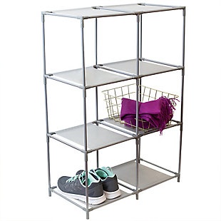 HDS Trading Multi-Purpose Free-Standing 6 Cubed Organizing Storage Shelf, , large