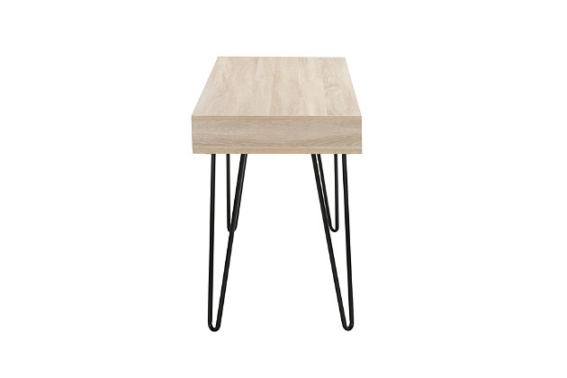 """OFM Core Collection 44"""" Home Retro Desk, Natural, large"""