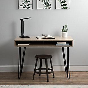 "OFM Core Collection 44"" Home Retro Desk, Natural, rollover"