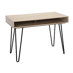 "OFM Core Collection 44"" Home Retro Desk, Natural, large"