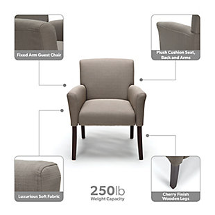 OFM Essentials Collection ESS-9025 Fabric Executive Guest Chair, Tan, large