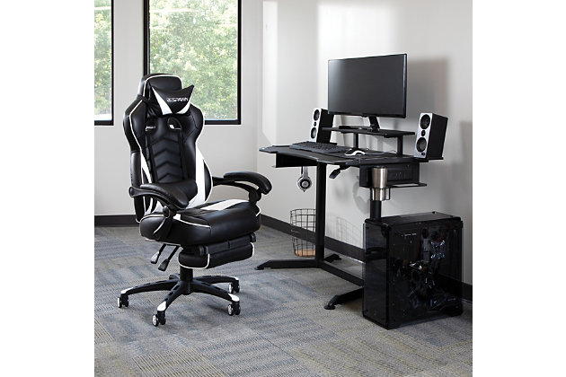 RESPAWN 110 Racing Style Gaming Chair with Footrest, , large