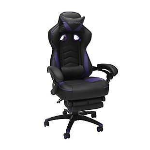 OFM 110 Racing Style Gaming Chair with Footrest, , large