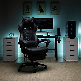 OFM 110 Racing Style Gaming Chair with Footrest, , rollover