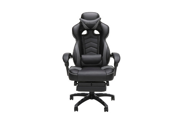 RESPAWN 110 Racing Style Gaming Chair with Footrest, Gray, large