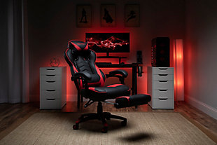 RESPAWN 110 Racing Style Gaming Chair with Footrest, Red, large