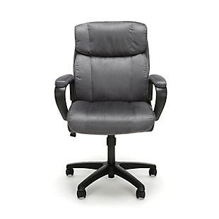 OFM Essentials Collection ESS-3082 Plush Microfiber Office Chair, Gray, rollover