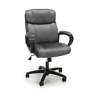 OFM Essentials Collection ESS-3082 Plush Microfiber Office Chair, Gray, large