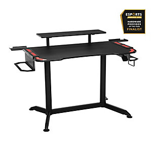 RESPAWN 3010 Adjustable Gaming Computer Desk, Red/Black, large