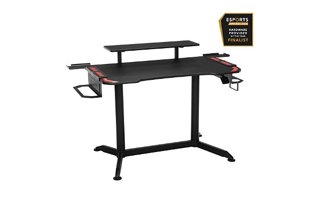 RESPAWN 3010 Adjustable Gaming Computer Desk, Red/Black, large