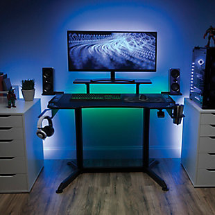 OFM 3010 Adjustable Gaming Computer Desk, , rollover