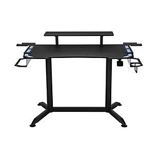 RESPAWN 3010 Adjustable Gaming Computer Desk, Blue/Black, large