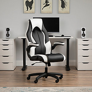 OFM Essentials Collection High-Back Racing Style Bonded Leather Gaming Chair, , rollover
